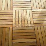 Tik Zemin Ahşap Kare Deck 50x50 cm