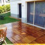 Teak Deck Garden Tile