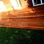 İroko Deck Döşeme Kartal'da bir evin Bahçesi