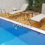 Pool Deck flexible wood