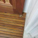 Kapı girişi ahşap paspas